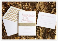 Taylor Sterling's wedding on 100 Layer Cake today! Invites by Southern Fried Paper