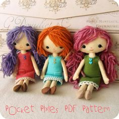 Pocket Pixie pdf Pattern  Instant Download por Gingermelon en Etsy, $12.50