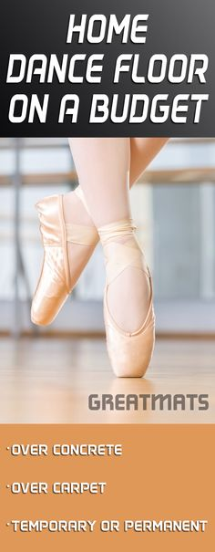 Top Five Home Dance Floors on a Budget Learn how to put together a home dance floor with limited funds. Home Ballet Studio, Home Studio, Dance Studio Design, Dance Equipment, 1million Dance Studio, Dance Rooms, Dance Bedroom, Dance Tips, Workout Rooms