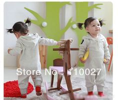 2014 baby sleeved bodysuits cotton toddlers high quality rompers kids overalls grey pink crawls 6pcs/lot cotton crawls jumpsuit $55.86