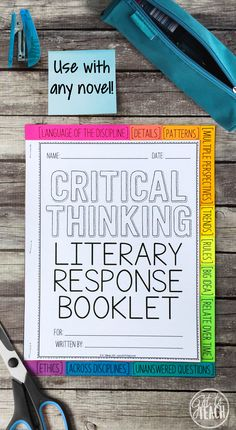"""Incorporate Depth and Complexity into your next novel study! Take your students' learning to new """"depths"""" with this Critical Thinking Literary Response Booklet. This open-ended resource can be used with any piece of literature in a variety of grades (4-8+). This kit comes with everything you need to provide your students with a thought-provoking and engaging alternative to traditional book reports."""