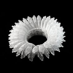 Ruff. These are for historical costumes but wouldn't they be nice as a necklace? Or have I lost my mind?