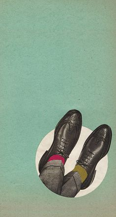 Nice wingtips and colorful socks