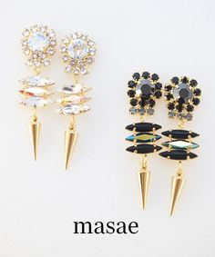 【masae】BIJOUX COLLECTION DROP PIERCES #シータ・ミュー