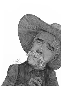The Stranger - The Big Lebowski Tribute Sketches by Stavros Damos, via Behance