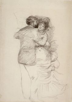 Pierre-Auguste Renoir - Study for 'Dance in the Country', pencil, 1883