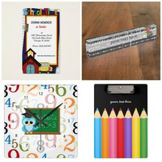 #teacher #school theme. Available in different products #businesscards #nameplate #wallclock #clipboard etc. Check more designs at www.zazzle.com/celebrationideas & www.zazzle.com/graphicdesign (for business cards & invitations)