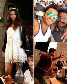 Have a glimpse of Ranbir Kapoor and Deepika Padukone from their movie, Tamasha. Also seen on the sets was Dippy's boyfriend Ranveer Singh. Source: On the sets: Ranveer joins Deepika and Ranbir in Corsica