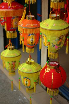 Lanterns / #yellow #orange #red