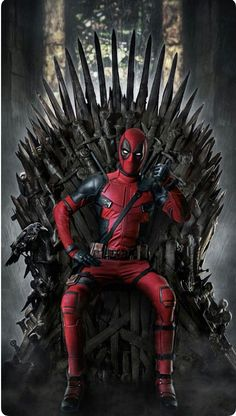 "Game of Deadpool ""You win or you Die"" GoT Game of Thrones theme phone wallpaper lock screen background. For iPhone and Android. Marvel Comic Universe, Marvel Art, Marvel Dc Comics, Ms Marvel, Captain Marvel, Deadpool Art, Deadpool Funny, Film Deadpool, Deadpool Quotes"