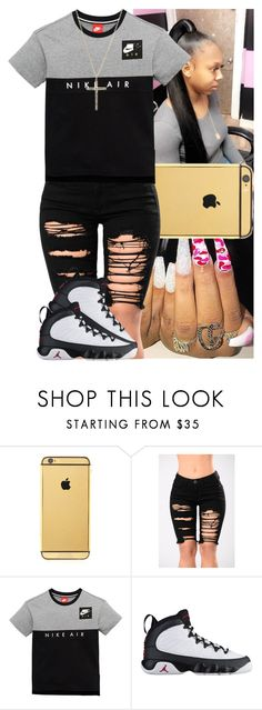 """""""Untitled #1667"""" by msixo ❤ liked on Polyvore featuring Goldgenie, NIKE and Michael Kors"""