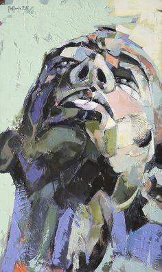 "Saatchi Online Artist: sorin dumitrescu mihaesti; Acrylic, Painting ""Portrait"""