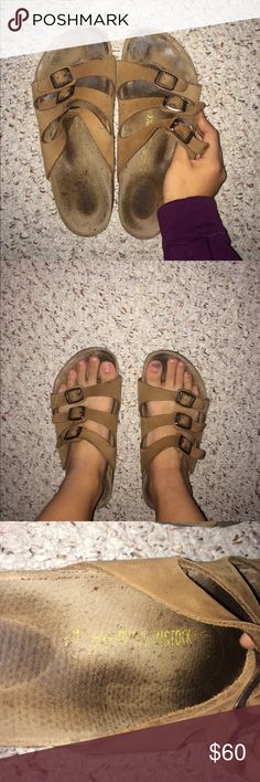 Birkenstock Florida sandals Taupe/brown color Florida style Birkenstock! They are in great condition no cracks in cork Sz 39 make an offer! Birkenstock Shoes Sandals