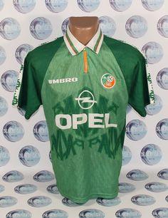 REPUBLIC OF IRELAND NATIONAL TEAM 1996 1998 HOME FOOTBALL SOCCER SHIRT JERSEY M #UMBRO #NORTHERNIRELAND