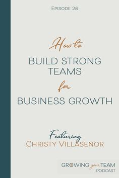 Do you want to build a team that will help you build a better and stronger small business than you can do on your own? In this episode of the Growing Your Team podcast, Christy Villasenor shares how.  Christy Villasenor, Growing You Team Podcast, Jamie Van Cuyk, Small Business  #hiring #smallbusiness #smallbusinesstips #podcast Working Mom Schedule, Working Mom Tips, Business Tips, Online Business, Pumping At Work, Like A Mom, Hiring Process, Work From Home Moms