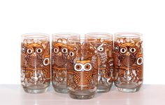 A set of owl glasses.