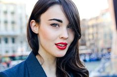 strong brow and lips