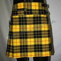 McLeod tartan Ladies Billie kilt with front pocket | Scottish Kilted Skirt Mini skirt Billie Skirt