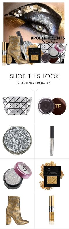 """""""#PolyPresents: Sparkly Beauty in Black, Silver & Gold"""" by alejandra-soraires ❤ liked on Polyvore featuring beauty, Bao Bao by Issey Miyake, Tom Ford, Kate Spade, Forever 21, Dries Van Noten, Yves Saint Laurent, contestentry and polyPresents"""