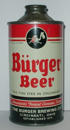 Burger Beer Can from Burger Brewing Co.