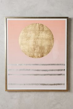 1998 - pink and blue - Lunar Kingdom Wall Art #anthropologie