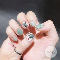 Image in nails collection by on We Heart It Cute Nail Art, Beautiful Nail Art, Cute Nails, Simple Acrylic Nails, Simple Nails, Nail Swag, Hair And Nails, My Nails, Korean Nail Art