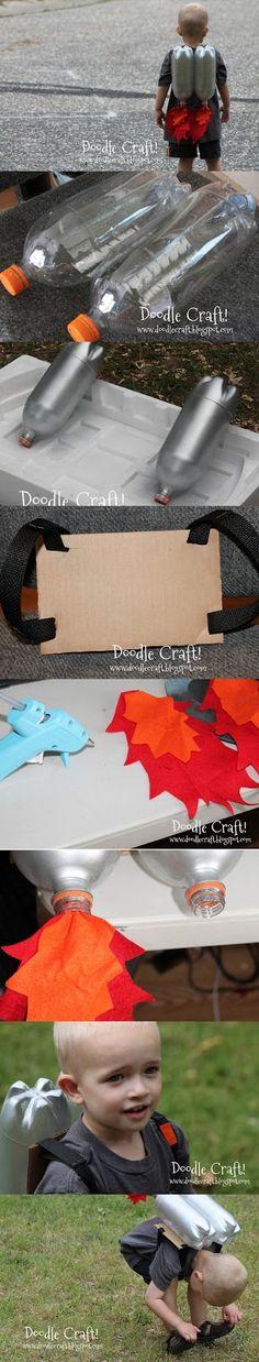 Super Sci-Fi Rocket Fueled Jet Pack--Upcycled Craft DIY I love upcycled crafts.