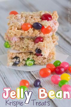 Introducing the Easy Jelly Bean Krispie Treats Recipe from my new list! .......TOP 20 BEST: EASY EASTER DESSERT RECIPES .......(ONLY 5 INGREDIENTS,or less--Always) .......What number would you make it? Please comment on my list page. Click the image.