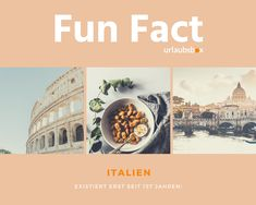 Fun Fact:  #Italien existiert erst seit 157 Jahren. #Italy has only existed for 157 years.  #urlaubsbox #travel #reisen #funfact Hotels, Gnocchi, Fun Facts, Movie Posters, Movies, Travel, Family Activity Holidays, Wtf Fun Facts, Films