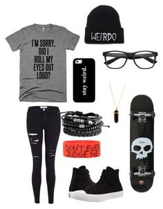 """Untitled #129"" by darksoul7 ❤ liked on Polyvore featuring Frame, Casetify, Hot Topic and Converse"