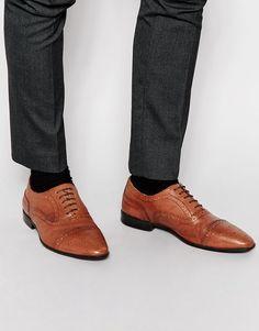 Zapatos Oxford de cuero tostado de ASOS