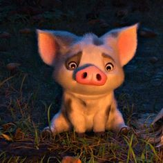 "OH MY GOSH! WHY MUST YOU DO THIS TO US DISNEY???? HE""S SO ADORABLE!!!!! (Pua)"