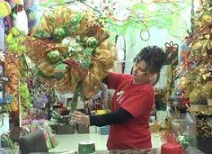 Mesh Wreath Tutorial.  https://www.youtube.com/watch?v=c40A6ZtupH4&feature=youtu.be