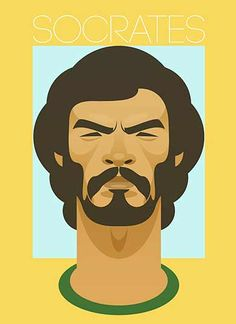 Socrates by Stanley Chow Illustration Portrait Illustration, Graphic Illustration, Graphic Art, Graphic Design, Football Design, Football Art, Football Stuff, Fantasy Football, Football Players