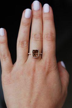 GIA Engagement ring diamond ring 3.2ct VS1 Cognac by EidelPrecious