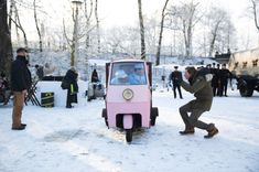 Get away scene/ with a bakery truck turned getaway car