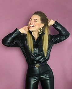 Leather Pants Outfit, Leather Dresses, Lederhosen Outfit, Latex Fashion, Steampunk Fashion, Gothic Fashion, Fashion Models, Curvy Girl Lingerie, Leder Outfits