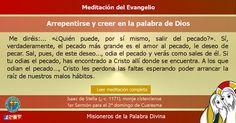 MISIONEROS DE LA PALABRA DIVINA: MEDITACIÓN DEL EVANGELIO - Arrepentirse y creer en...