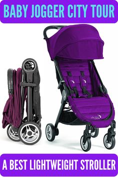 Baby Jogger City Tour is an easy and compact portable stroller featuring a one hand quick fold, auto lock to fold, multi position near flat recline, and 5 point harness. This best travel stroller has also UV 50+ extended sun canopy and peek a boo window. It meets carry-on requirements for many modes of transportation. #babyjoggercitytour #bestbabystroller #bestlightweightstroller Best Travel Stroller, Best Baby Strollers, Best Lightweight Stroller, Baby Jogger City, Sun Canopy, Travel System, Peek A Boos, Folded Up, Compact