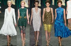 Skirts, lace dresses and prints I Vera Wang Spring 2013 | Indian Inspired Fashion Goes International
