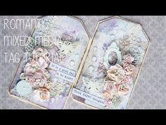 Romantic Mixed Media Tag Tutorial - YouTube