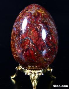 Pietersite Crystal Egg Carving