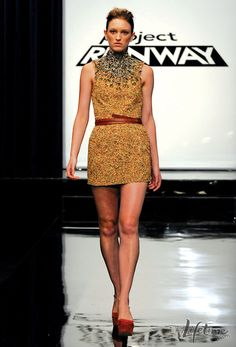 Anthony Ryan Auld. Project Runway Season 9. Dress made entirely of bird seeds with a muslin lining. Despite not liking the short-short length of the dress, I think that it's absolutely fabulous. Just goes to show that innovation and inspiration can go a long way!