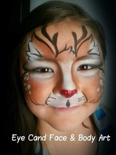 M Christmas Face Painting, Christmas Paintings, Face Painting Designs, Paint Designs, Painting Art, Animal Paintings, Body Paintings, Face Paint Makeup, Holiday Makeup