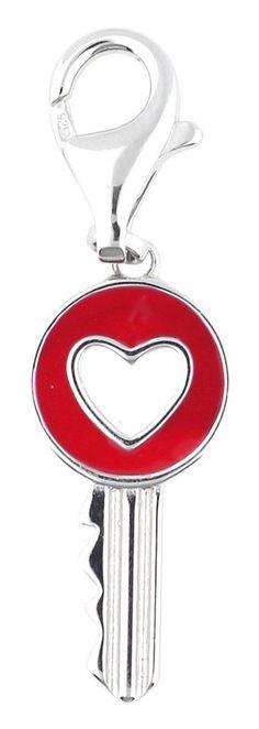 ESPRIT Charm-Einhänger für 23,21€. Entzückendes Charm im Herz-Schlüssel Motiv, Detaillierte Fertigung aus schönem Sterlingsilber bei OTTO