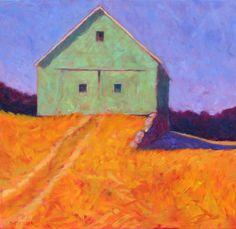 "Peter Batchelder ""Stone Wall"" (36 x 36, oil on canvas, April 2014)"