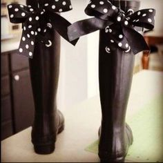 where i live you need rainboots but cute ones!