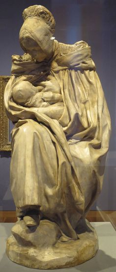 Aimé-Jules Dalou: 'A Woman of Boulonge Nursing Her Child',  c. 1890s,  plaster,  High Museum of Art