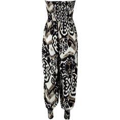 AX Paris AX Paris Zebra Print Jumpsuit ($23) found on Polyvore