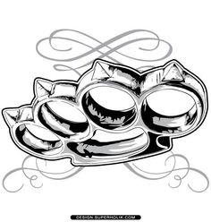 Image result for brass knuckles drawing